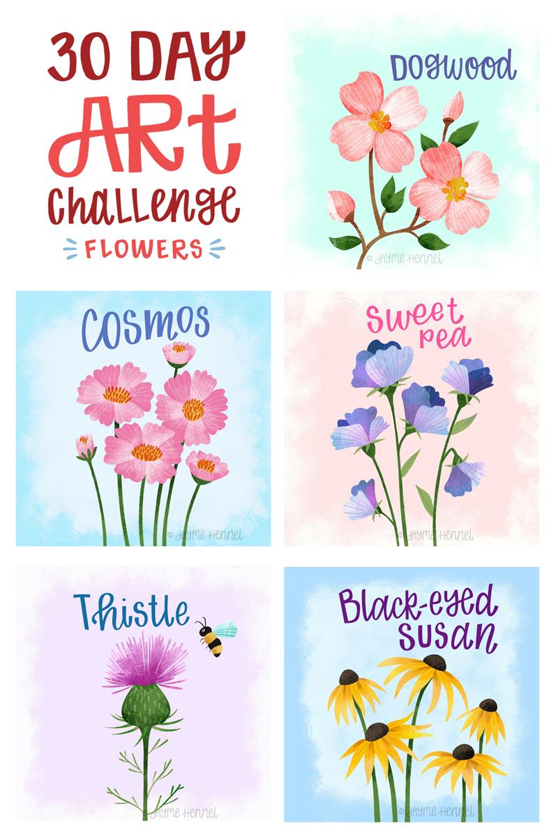© 2017 Jayme Hennel - 30 Day Flower challenge 16-20