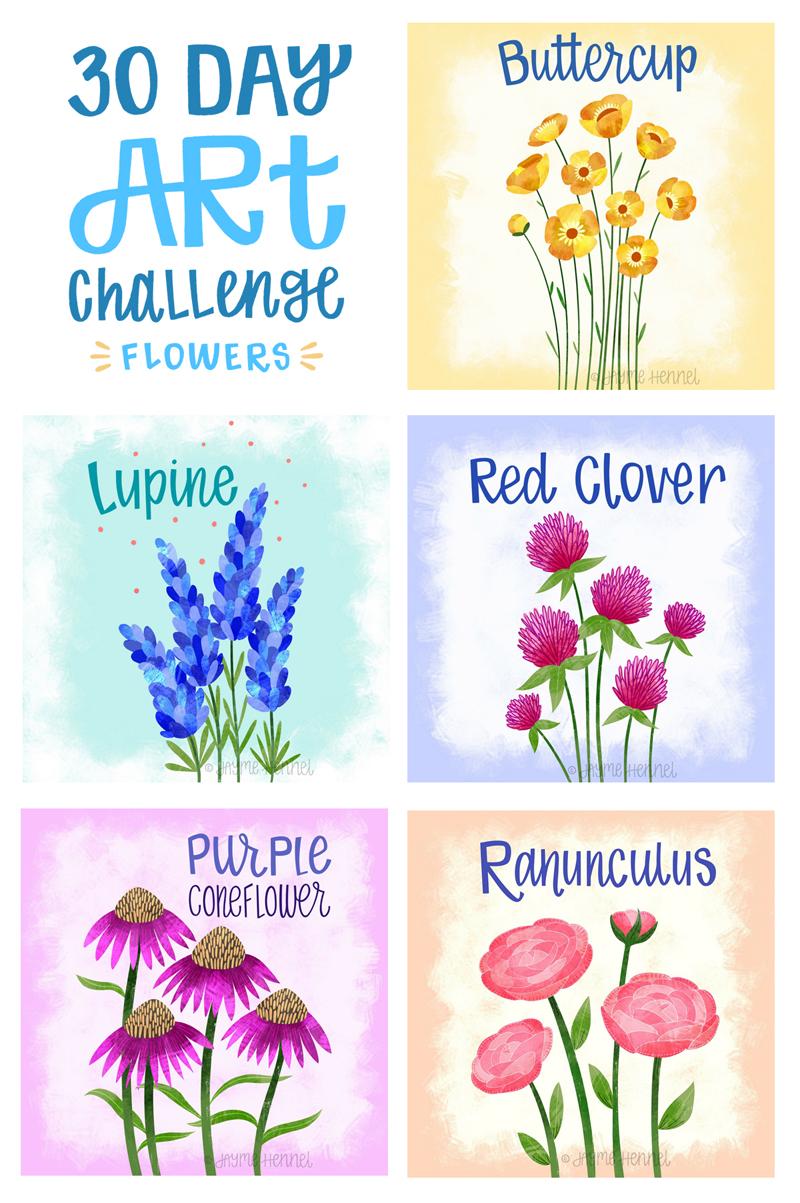 ©2017 Jayme Hennel 30 Flower Challenge 26-30