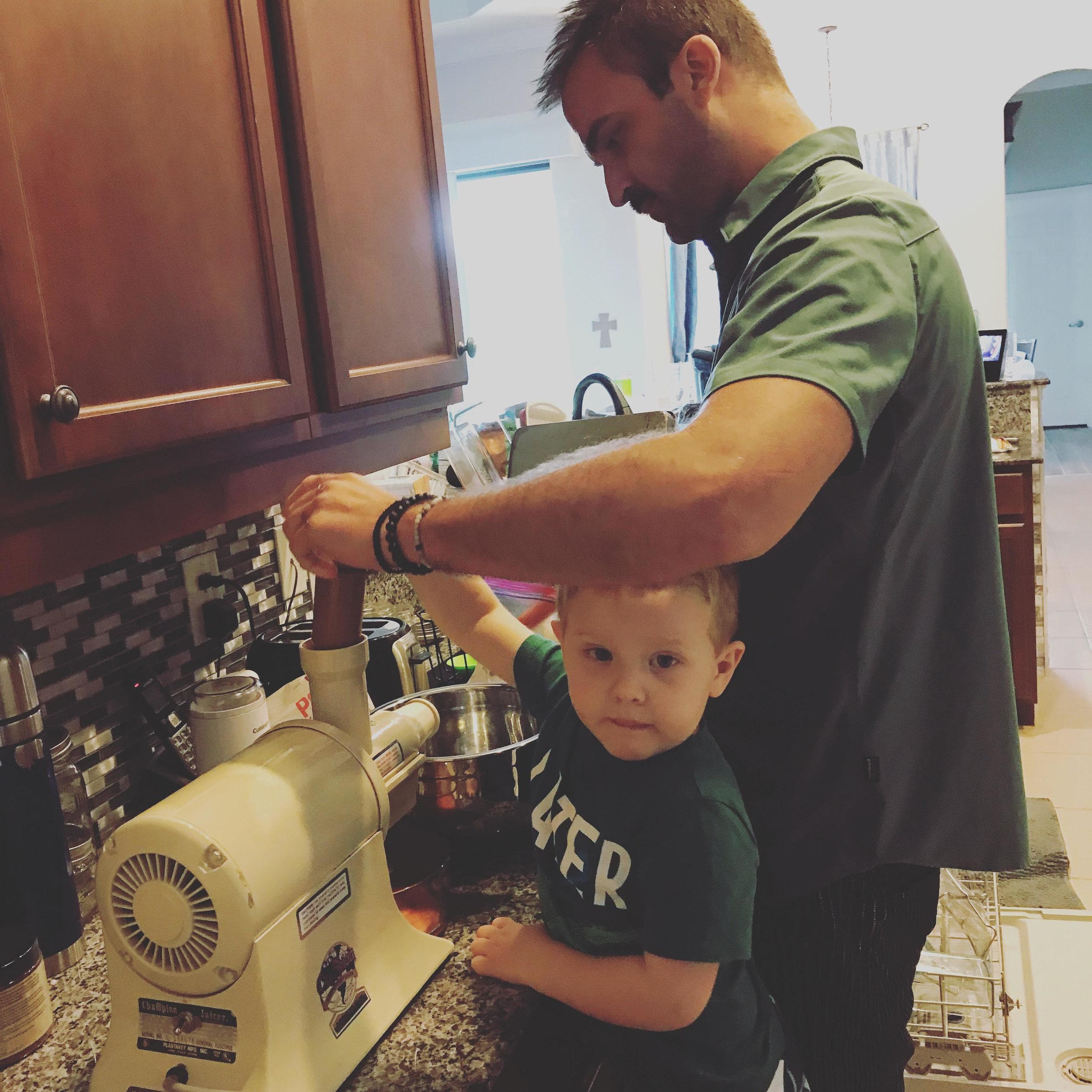 Nephew & I Juicing - 2018