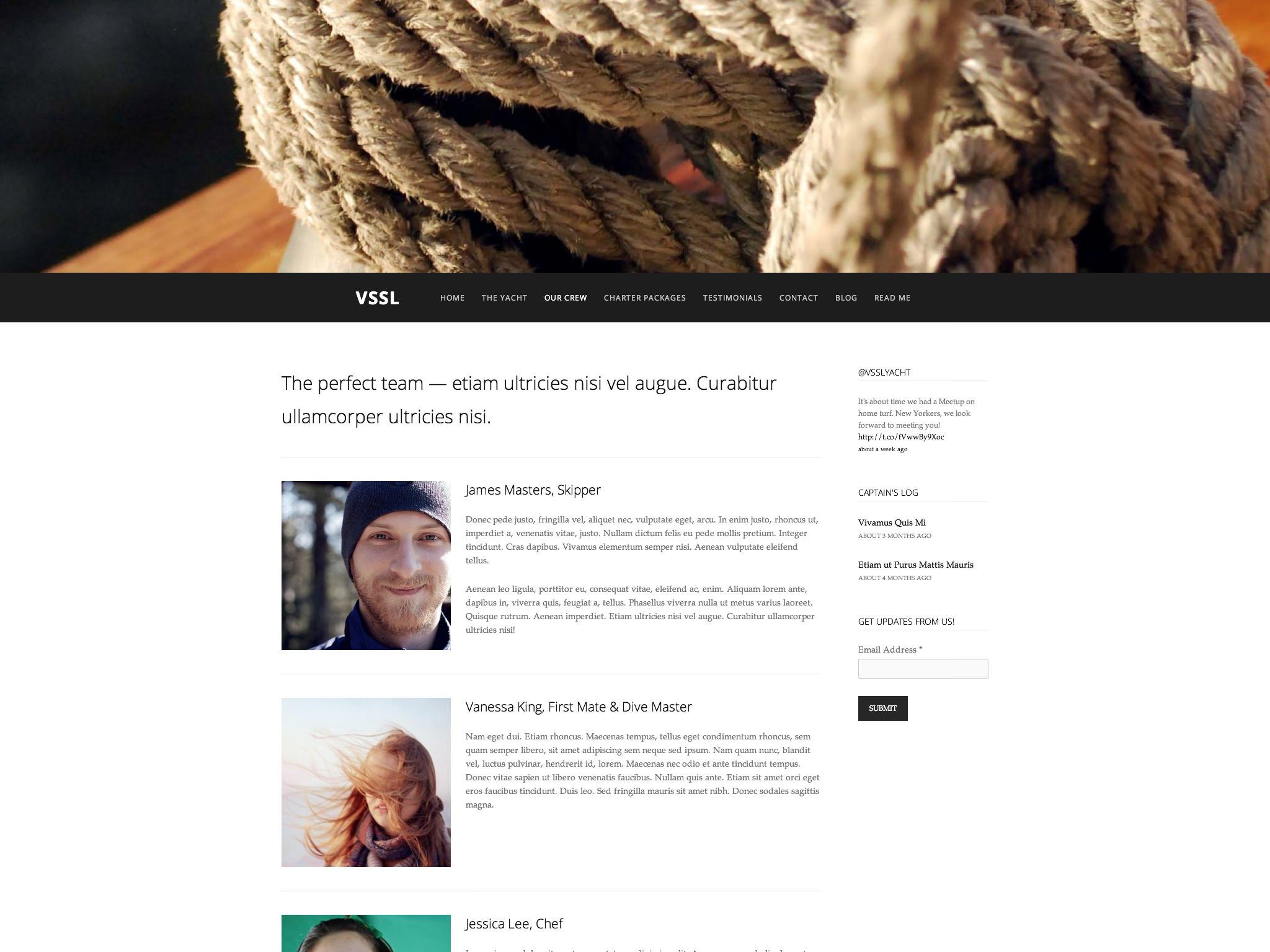 Page Layout: One Sidebar