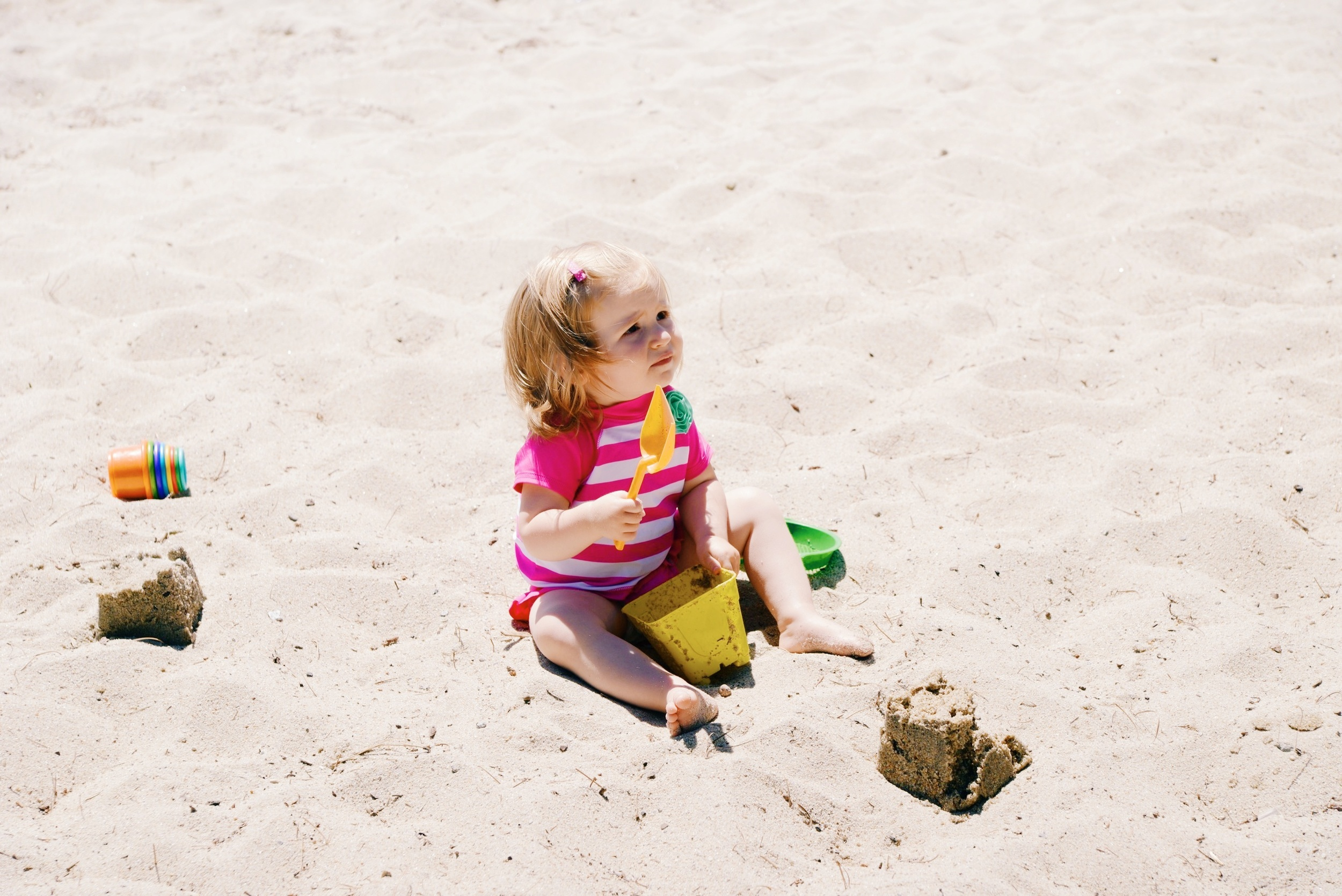 Lila at the beach on Saturday