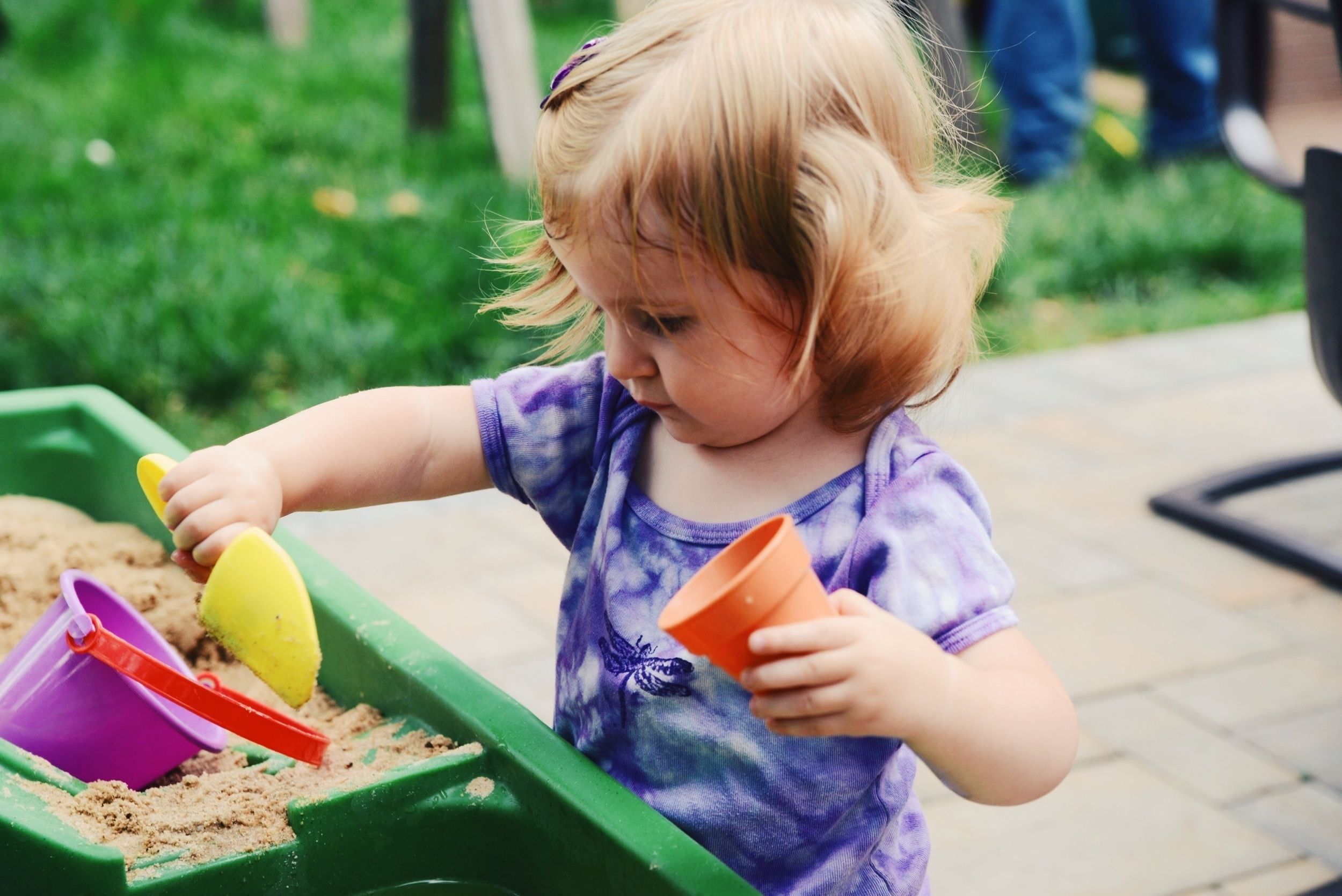 Playing with the sand and water table