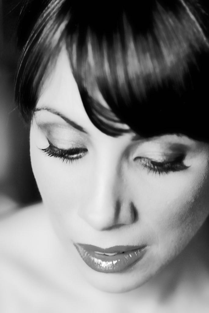 My friend Lyn, during a shoot we did a few years ago.