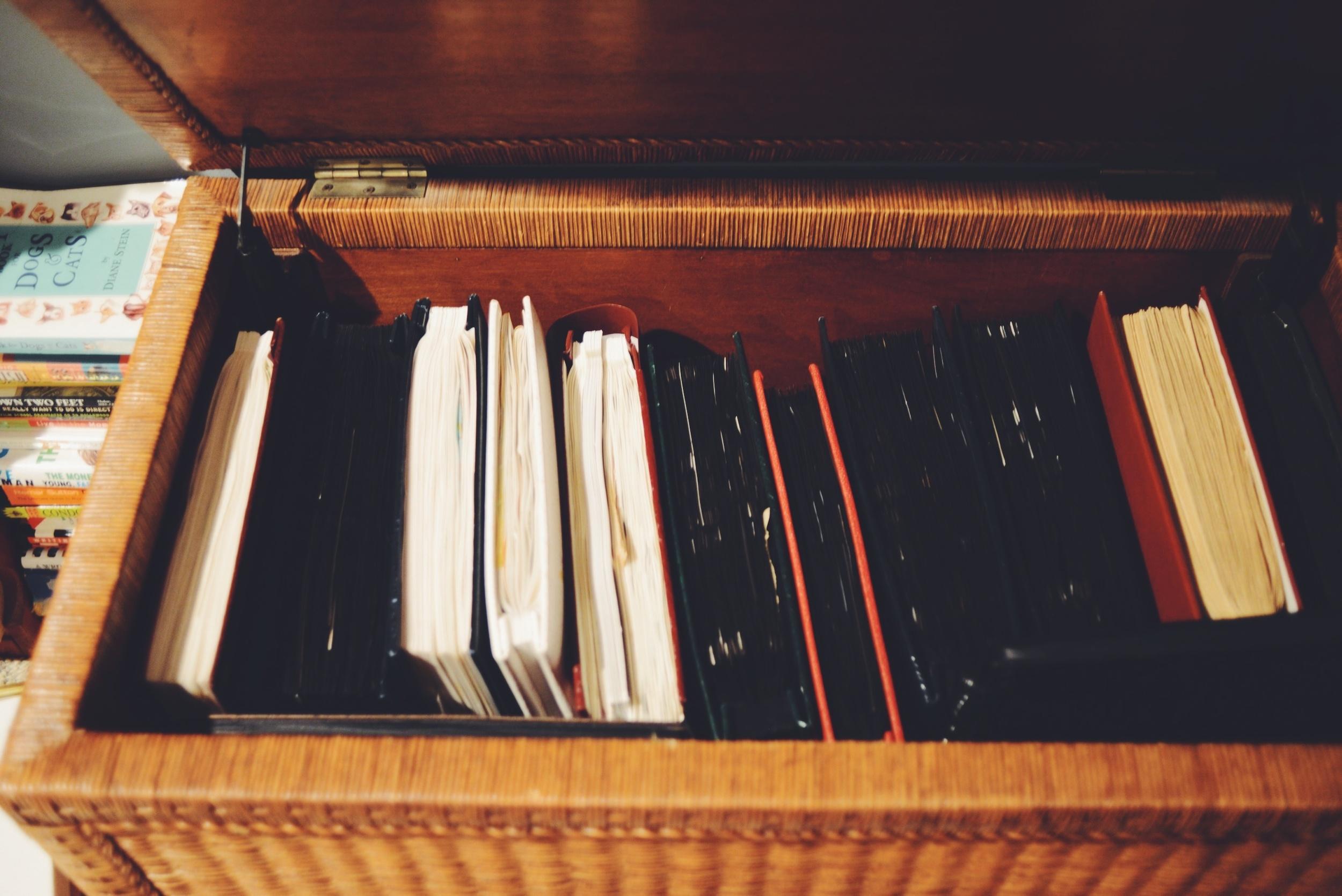 All my old scrapbooks