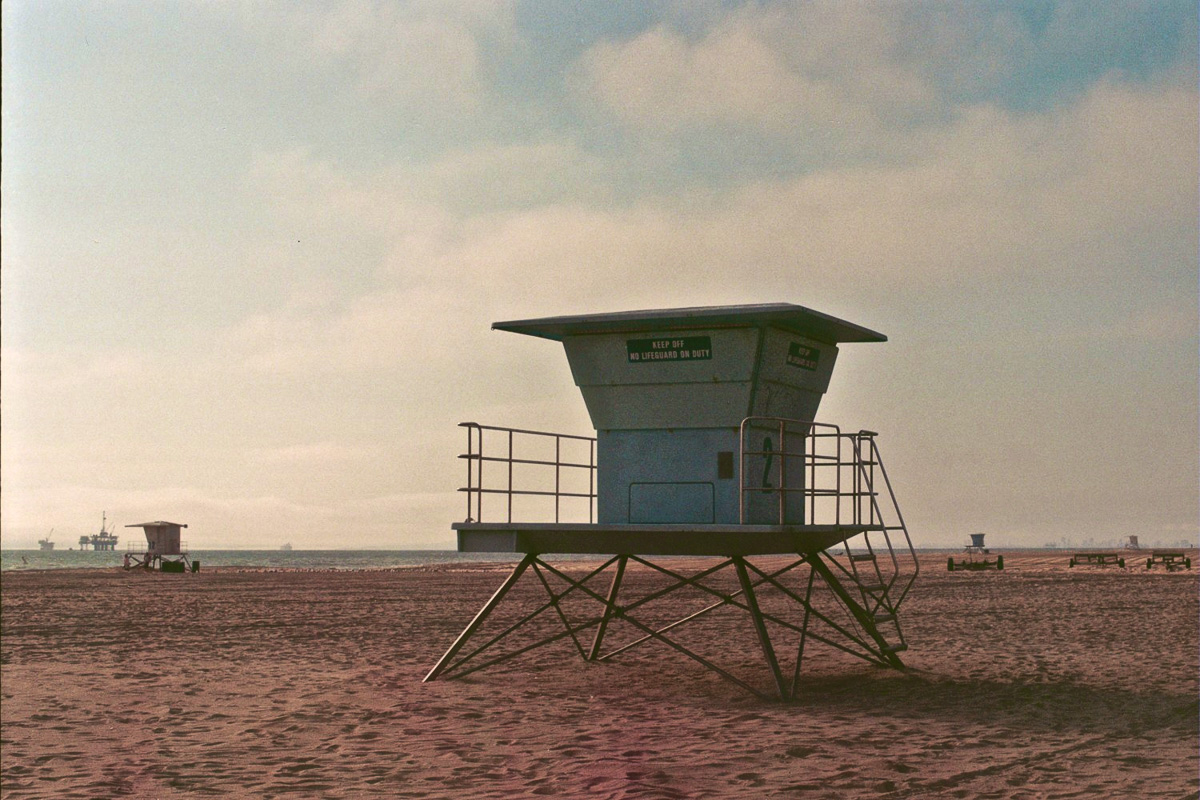 Taken with my Yashica FX-2 in 2009 at Huntington Beach.