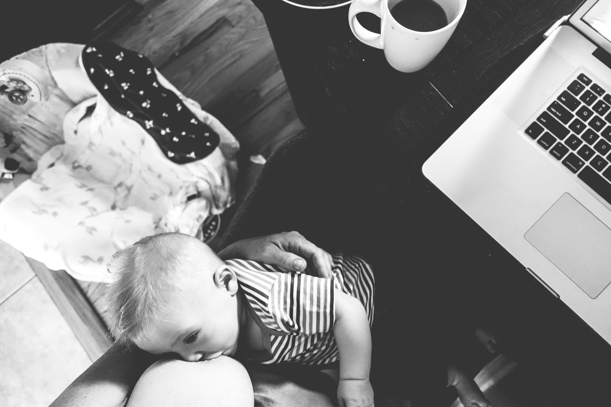 8:55am:Boobs, baby, blogs and coffee. Pretty standard morning.