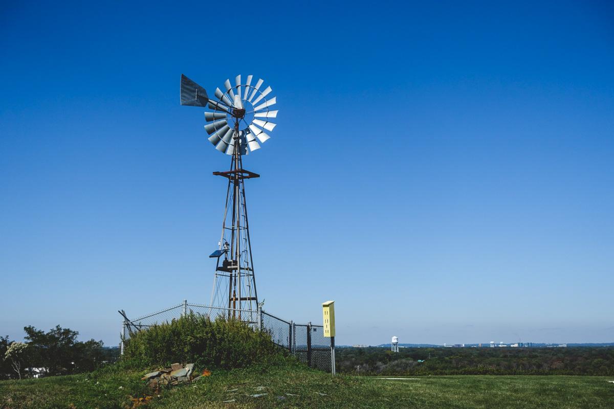 12:50pm: Wind mill.