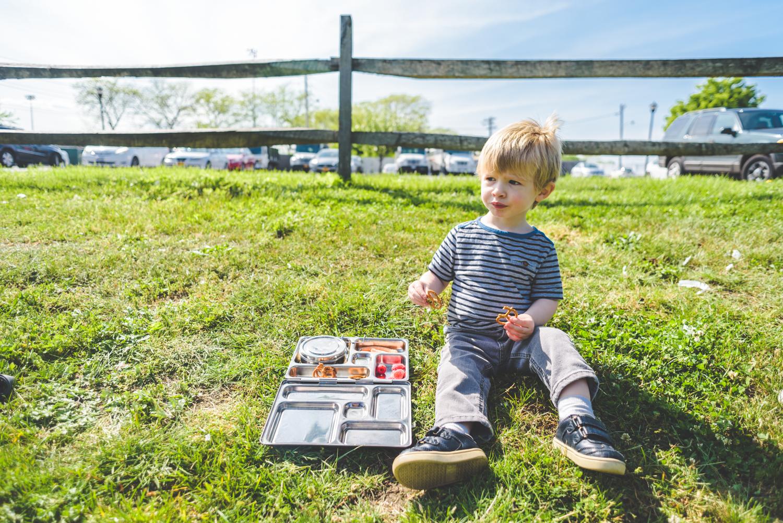 Little boy eating lunch | Francesca Russell Photography & Films | Garden City Family Photographer