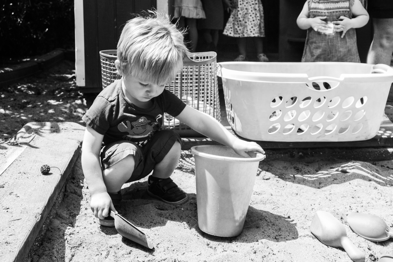 Playing in the sandbox.