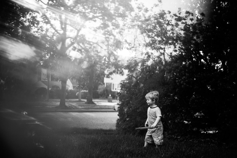 Little boy at dusk | Francesca Russell Photography | Nassau County Family Photographer