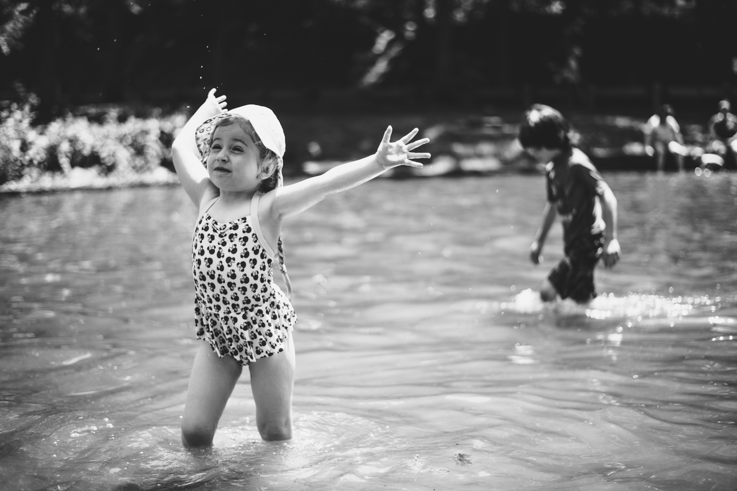 Lila at the swimming hole.