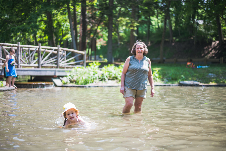 "Lila and Nana ""swimming""."