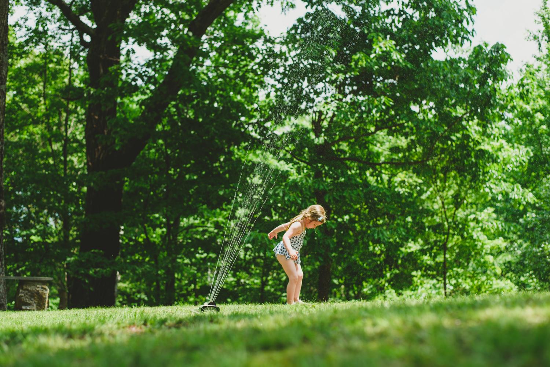 More sprinkler play.