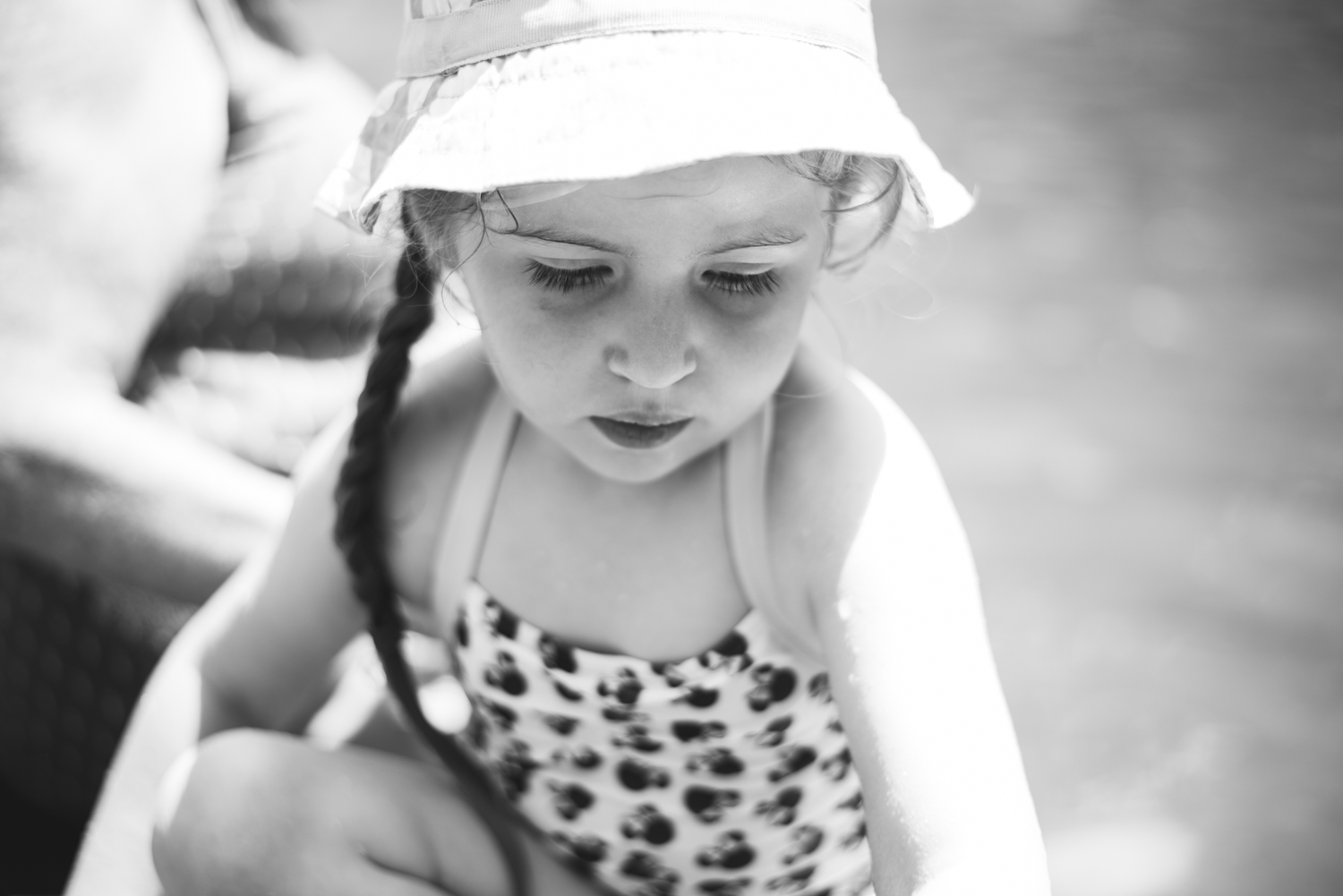 Portrait of Girl in Hat | Francesca Russell Photography | Long Island Children's Photography