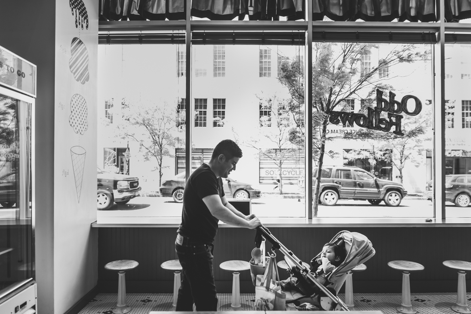 Francesca Russell Photography | Brooklyn Family Photographer | Dad and baby in stroller