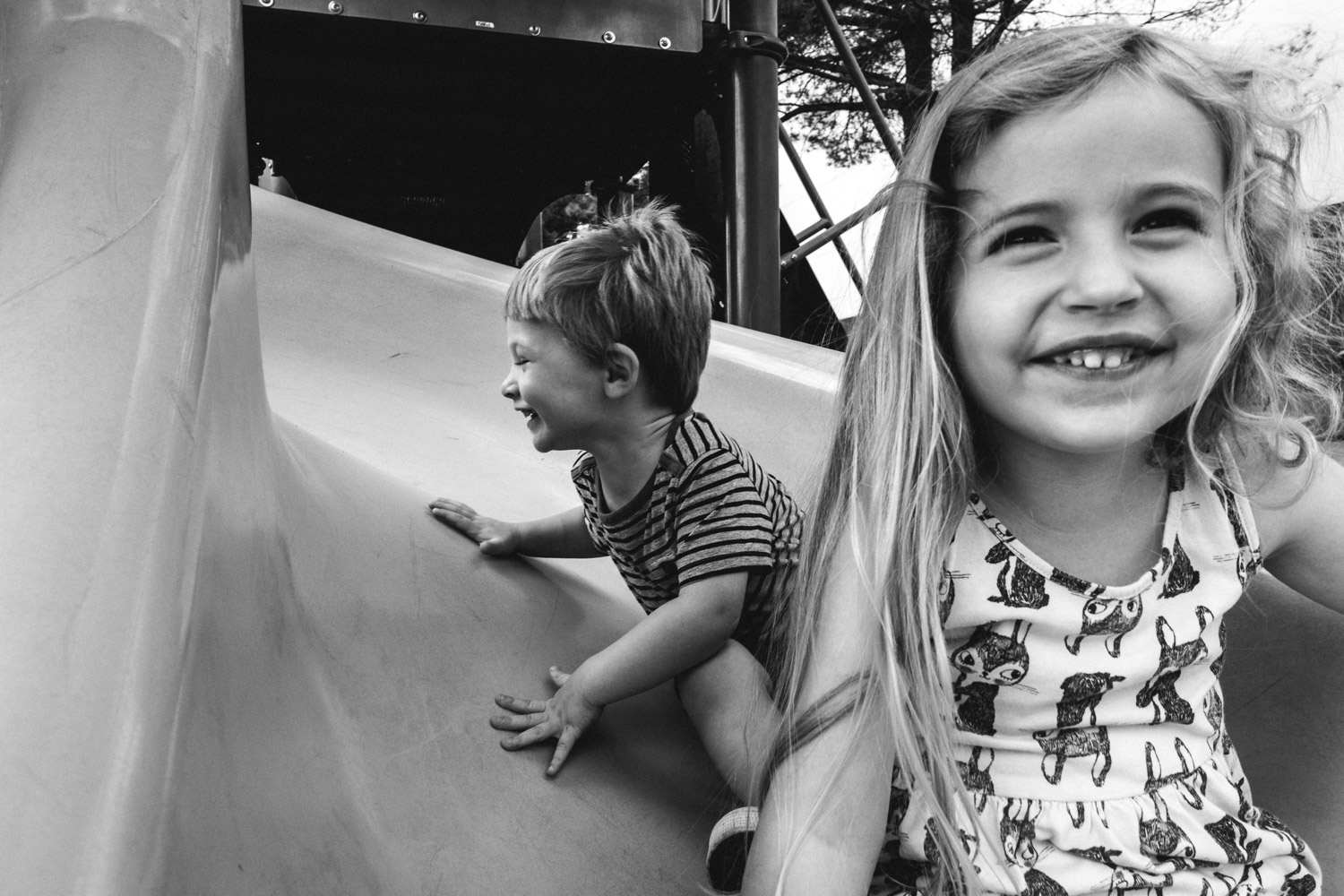 Francesca Russell Photography | Long Island Family Documentary Photography | Fun on the slide