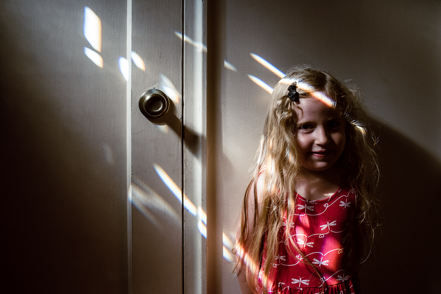 Francesca Russell Photography | Long Island Family Documentary Photography | Lila portrait with light