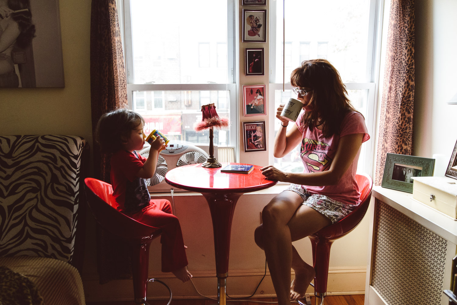 Francesca Russell Photography | Astoria, Queens Family Photographer | Lyn & Dylan morning coffee