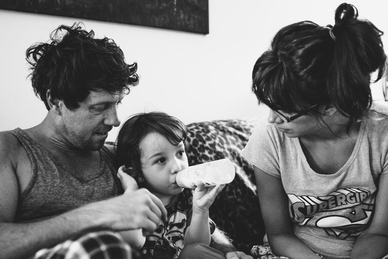Francesca Russell Photography | Astoria, Queens Family Photographer | Morning milk