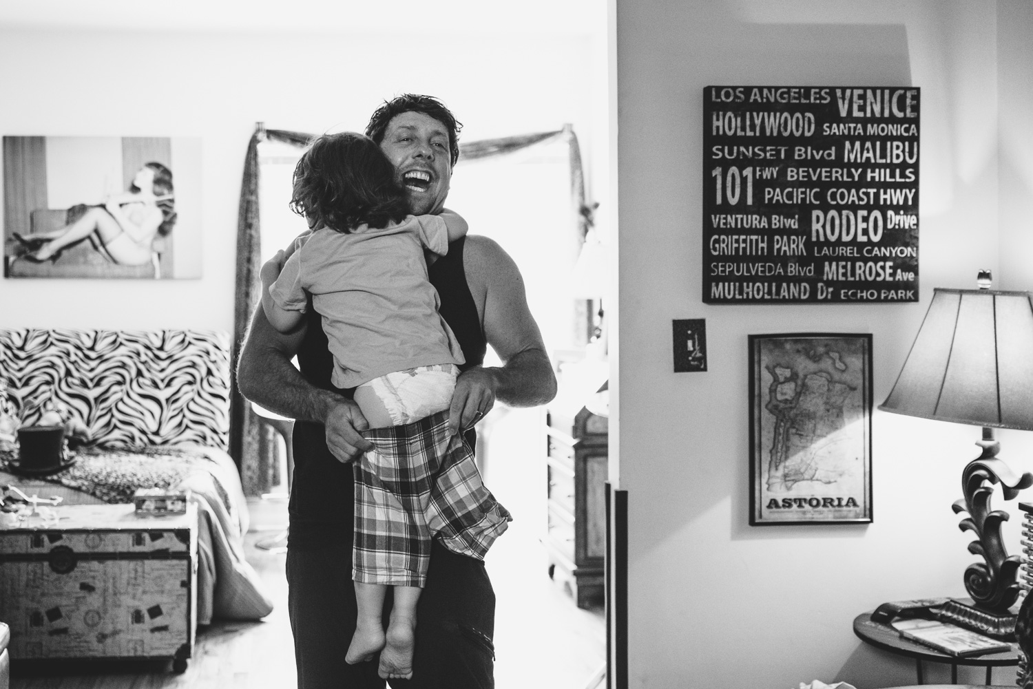 Francesca Russell Photography | Astoria, Queens Family Photographer | Dad dressing Dylan