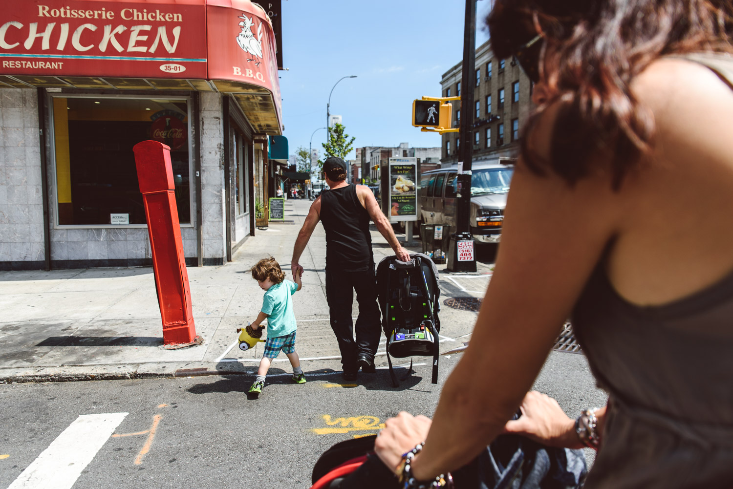 Francesca Russell Photography | Astoria, Queens Family Photographer | Crossing the street