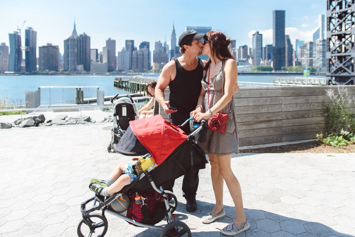 Francesca Russell Photography | Astoria, Queens Family Photographer | Kissing at the waterfront