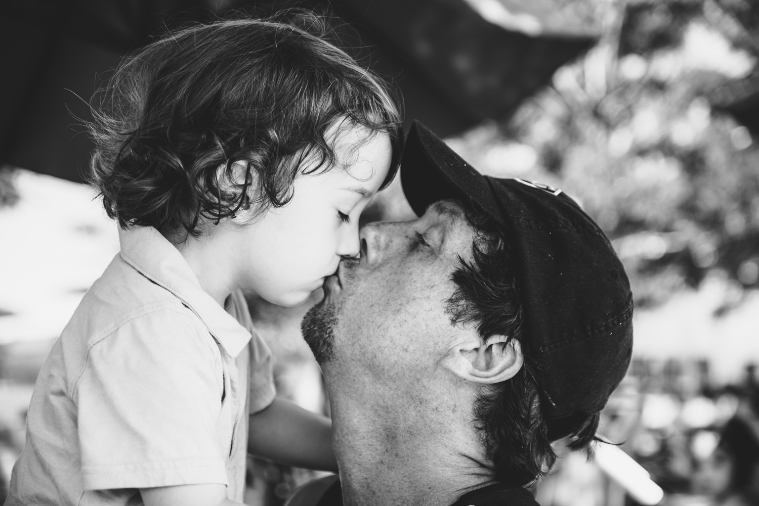 Francesca Russell Photography | Astoria, Queens Family Photographer | Kissing sleepy Dylan