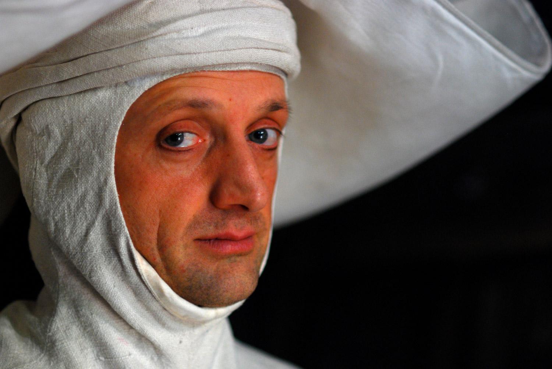 """Matt Allen as """"the nun"""" in """"Spamalot""""."""