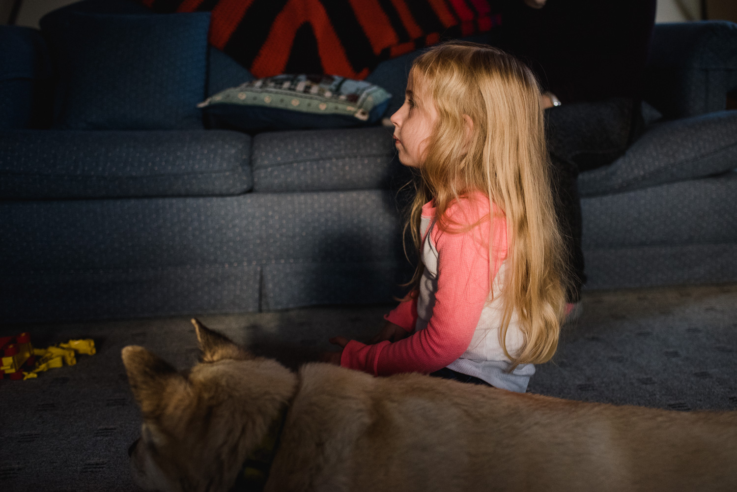 Little girl and her dog.