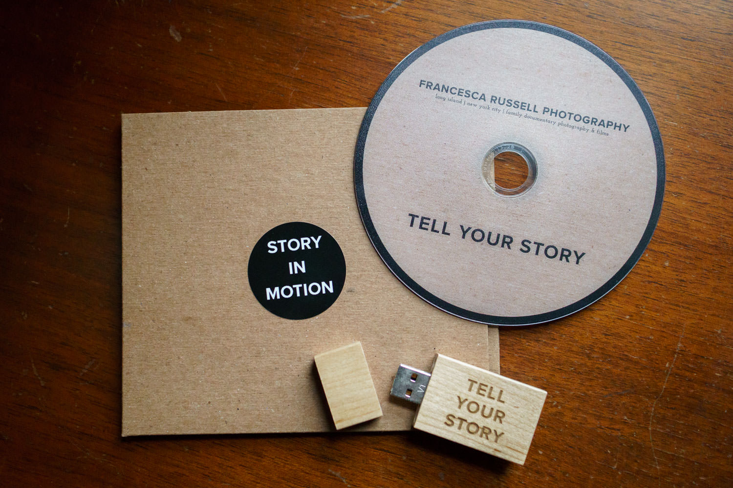 DVD and USB cases for Francesca Russell Photography & Films.