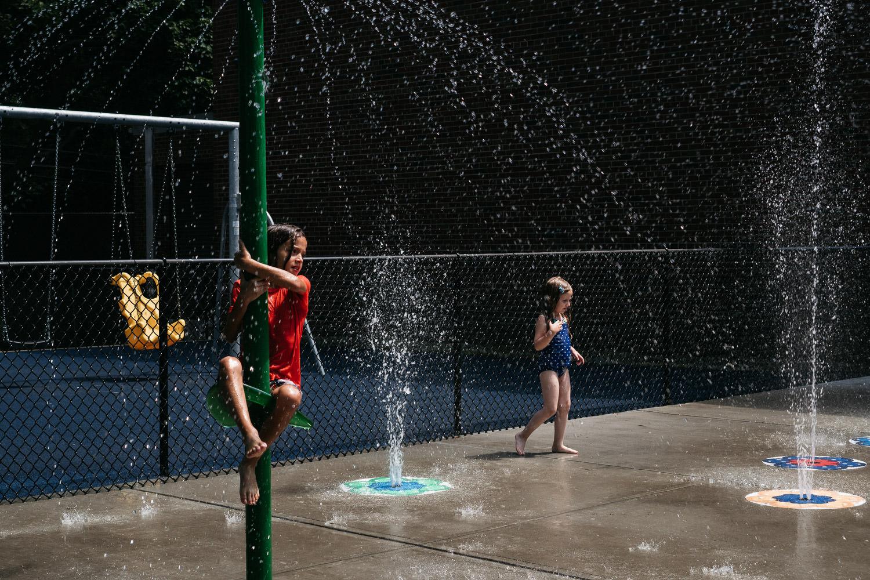 A spray park in Rockville Center.
