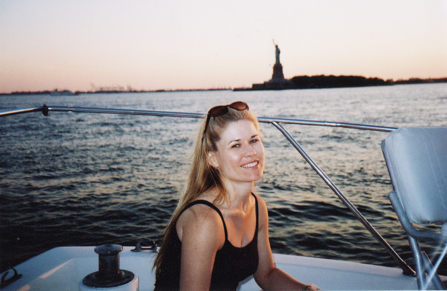 Sailing on the Hudson the year after moving to New York City.