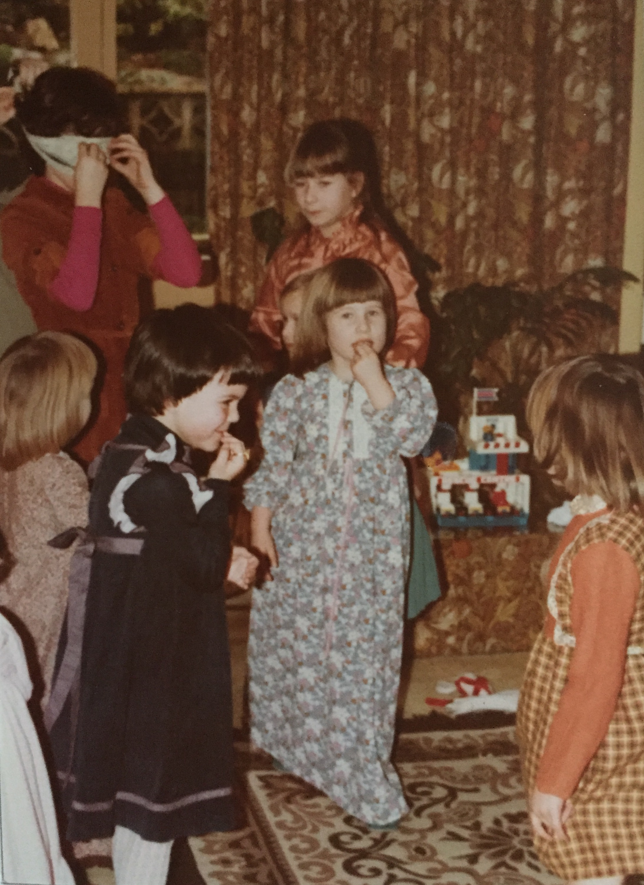 Children at a party in the 1970's.