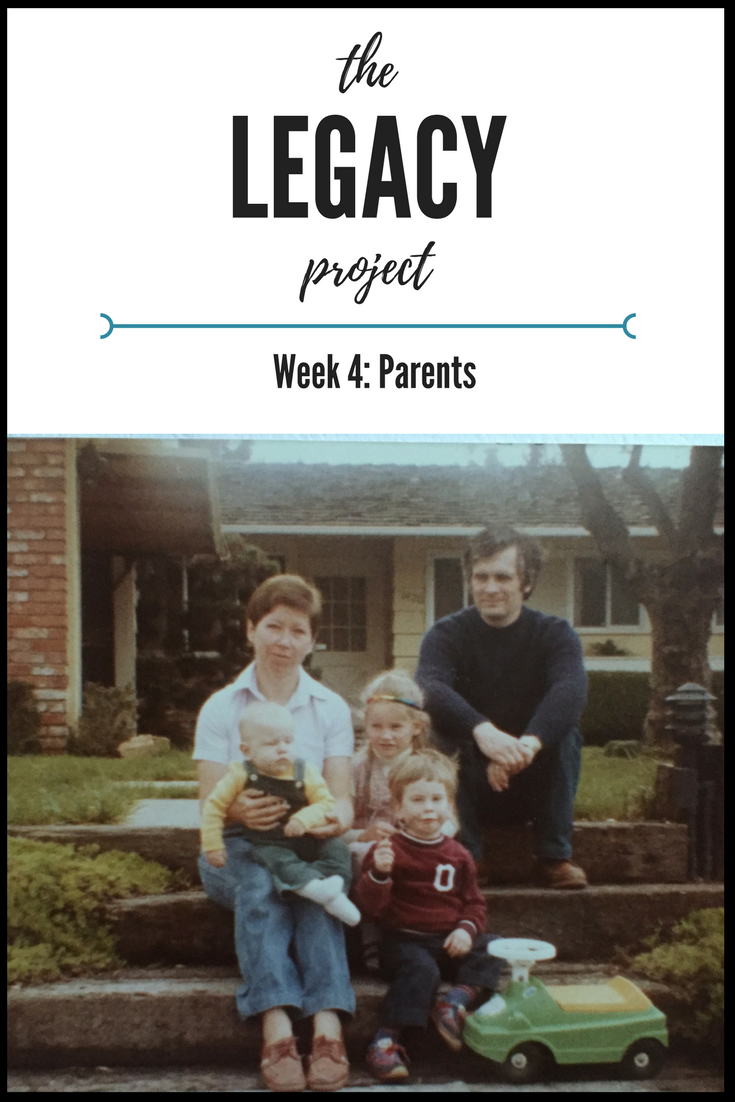 The Legacy Project - Week Four.