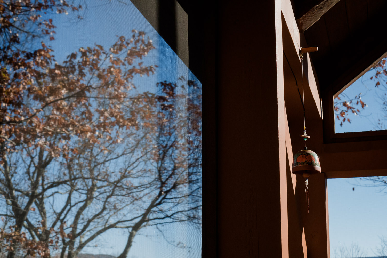 Sunshine on the porch.