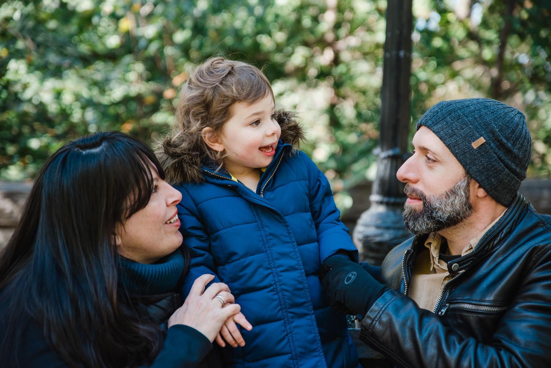 A family portrait in Riverside Park in Manhattan.