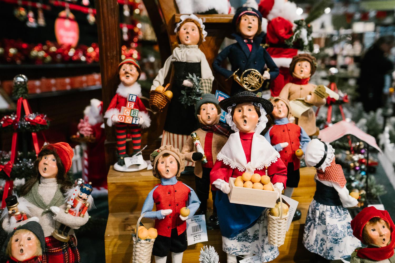 Byer's Christmas figurines at Hicks' Nursery.