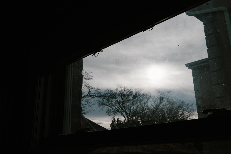 Light through a kitchen window.