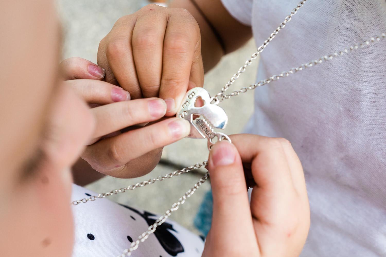 A best friends necklace.