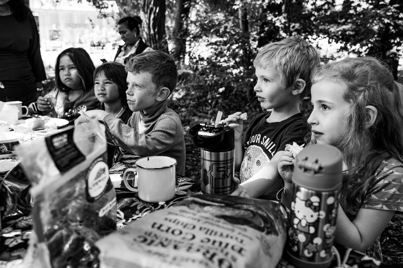 Children picnic at Restoration Farm.
