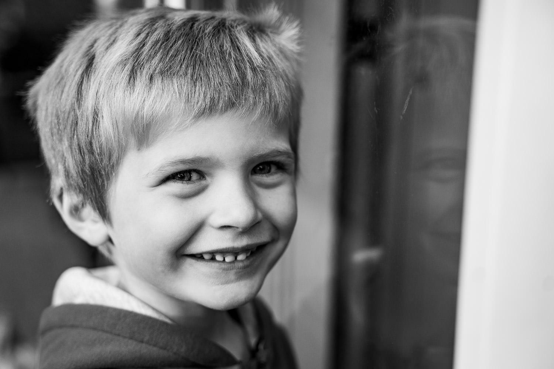 A portrait of a little boy.