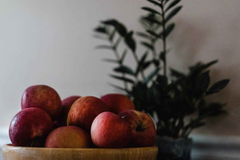 Freshly picked apples.