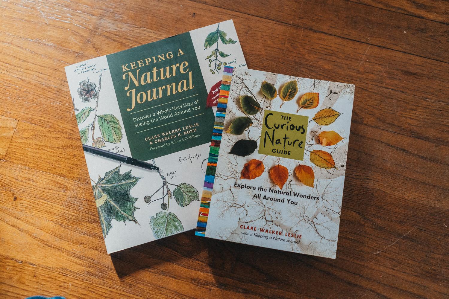 Books about nature journaling.