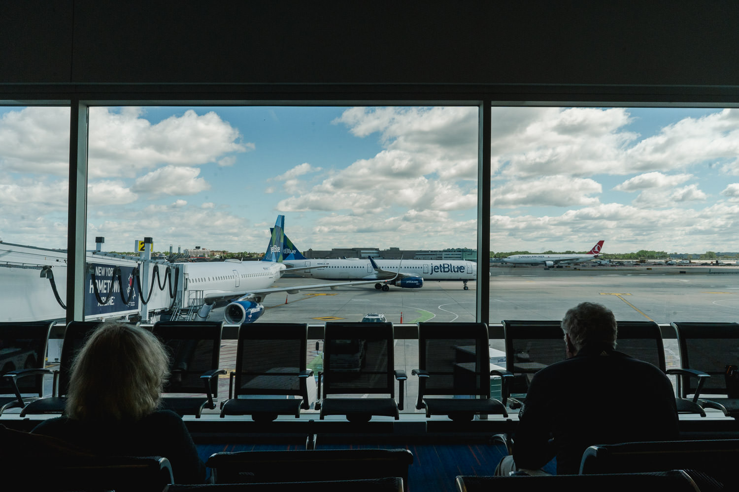 A view out the window at JFK airport.