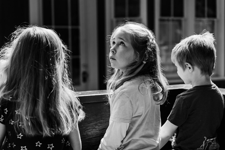 Children ride the train at Roaring Camp.