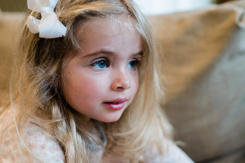 A portrait of a little girl.