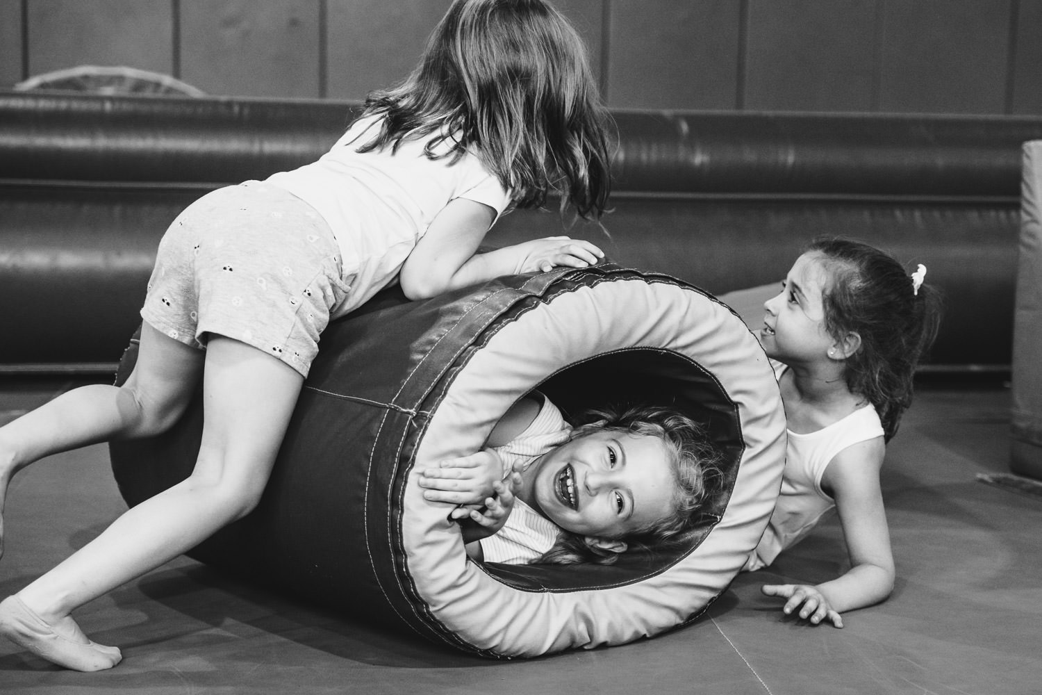 Children play at the gym in Rockville Center.