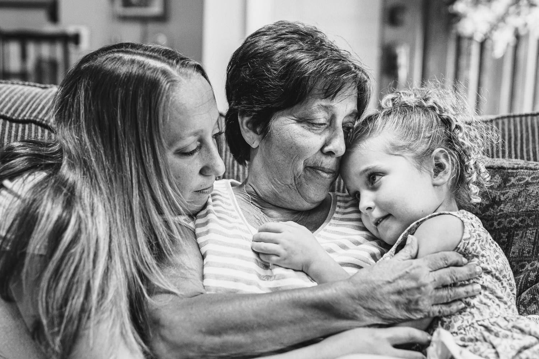 Three generations of women.