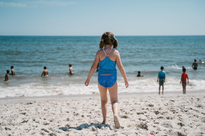 A little girl at Robert Moses beach.