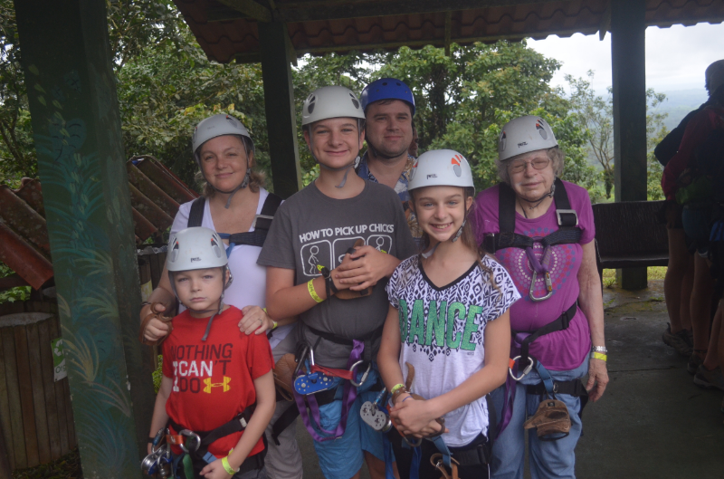Ready to try zip lining.